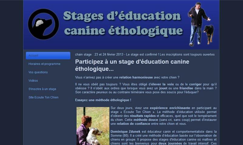 STAGE D EDUCATION CANINE ETHOLOGIQUE *
