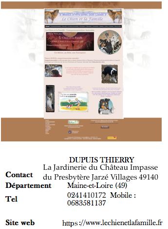 Thierry DUPUIS Comportementaliste Chien et Famille *