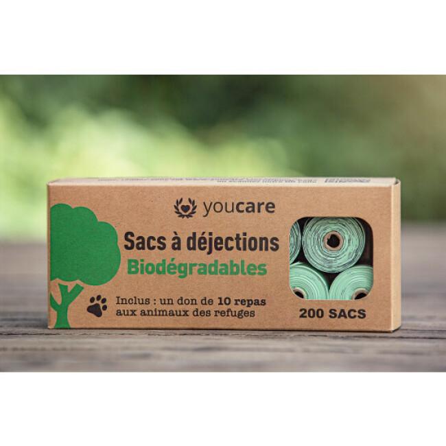 200 sacs YouCare à déjection biodégradables et compostables