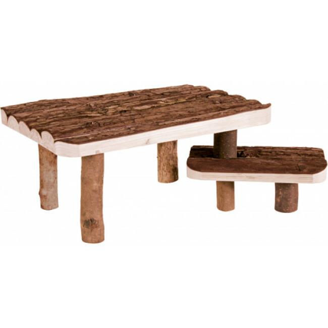 Abri en bois avec plateforme pour rongeurs Natural Living Trixie