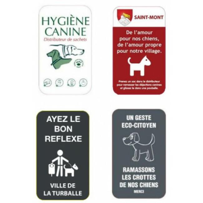 Accessoires pour bornes de propreté canine