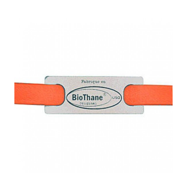 Accouple en Biothane orange fluo pour chien