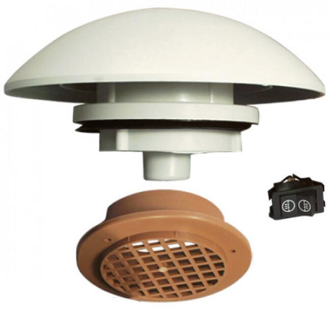 Aérateur de toit électrique petit et moyen volume pour chien