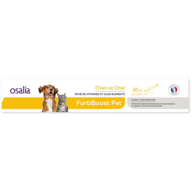 Aliment complémentaire FortiBoostPet pour chien ou chat