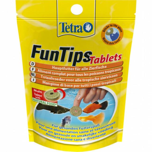 Alimentation FunTips Tablets Tetra pastilles pour poissons