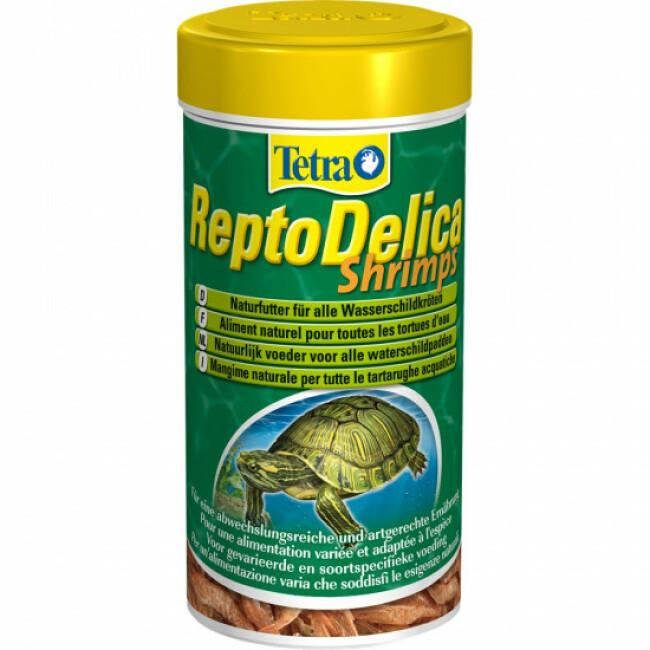 Alimentation naturelle aux crevettes complément pour tortues d'eau Tetra ReptilaDelica Shrimps