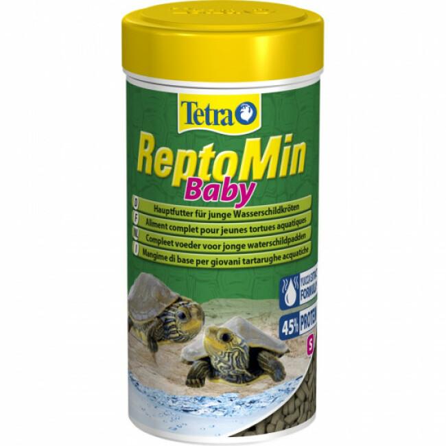 Alimentation premium équilibrée pour jeunes tortues aquatiques Tetra ReptoMin Baby