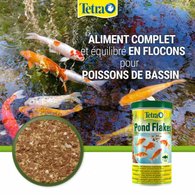 Alimentation Tetra Pond Flakes pour poissons de bassin