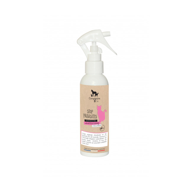 Antiparasitaire naturel pour chat Stop parasites spray 150 ml