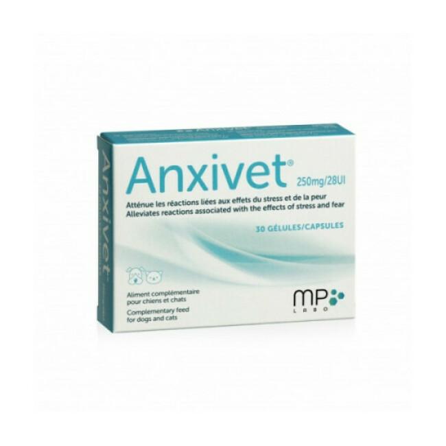 Anxivet anti-stress pour chien et chat 30 gélules MP Labo