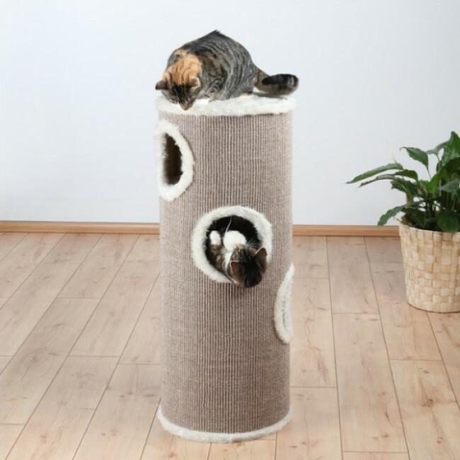 Arbre à chat beige Cat Tower Edoardo Trixie Hauteur 100 cm