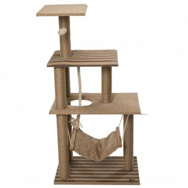 Arbre à chat 3 étages avec hamac et jeux Elm