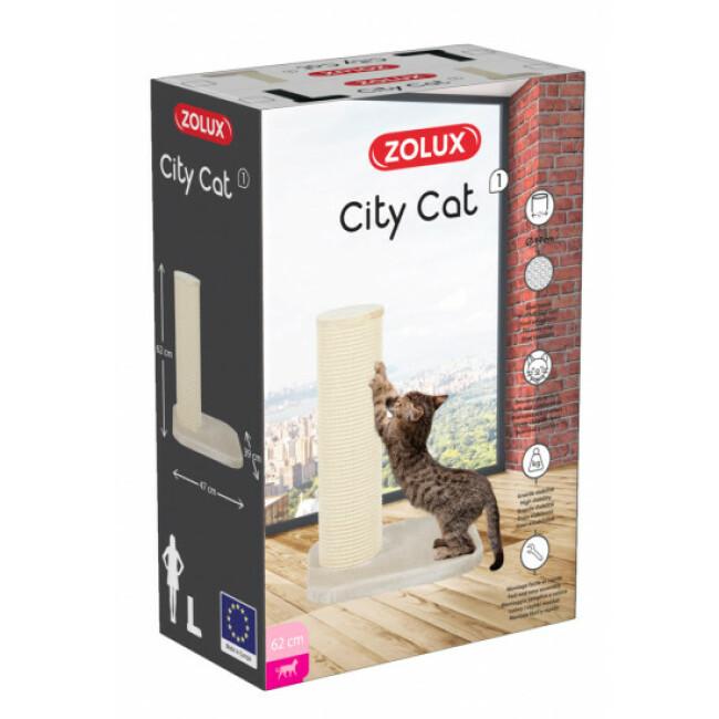 Poteau griffoir pour chat City Cat Zolux hauteur 62 cm