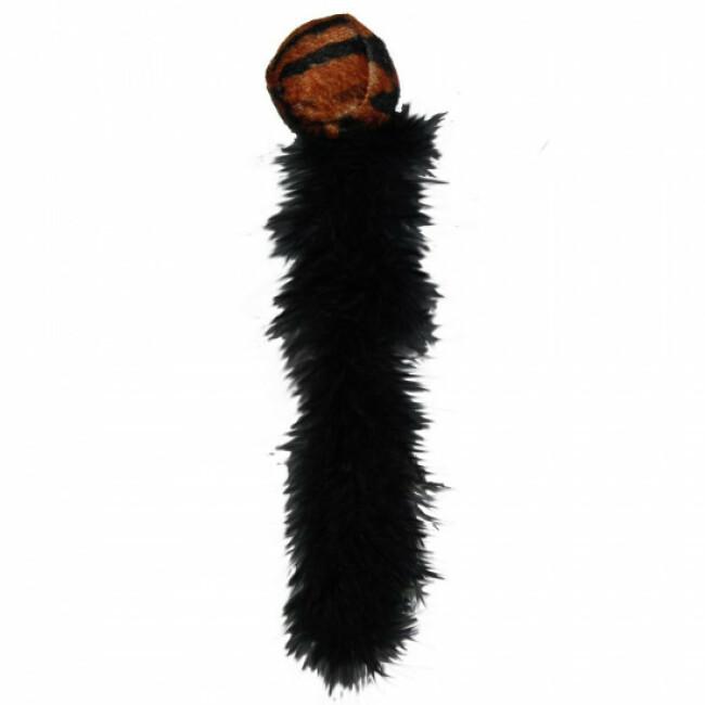 Balle avec plumes et grelots pour chat KONG Wild Tails