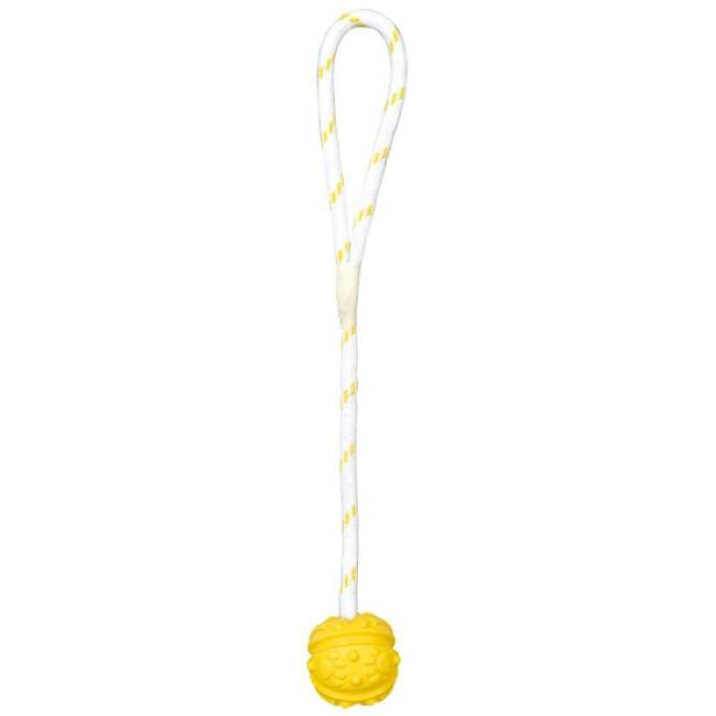Balle flottante Trixie avec corde pour chien