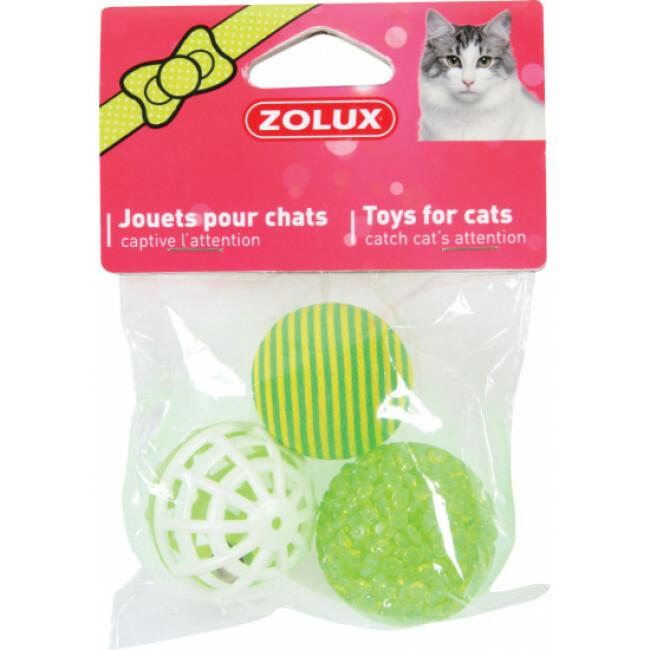 Balles variées texturées Zolux pour chat