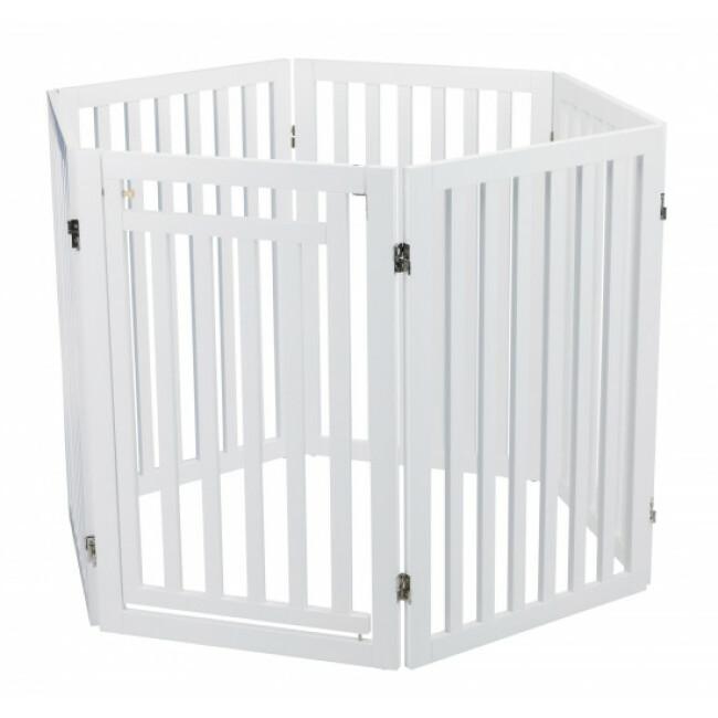 Barrière pour chien pliable et réglable avec porte en 4 parties Trixie