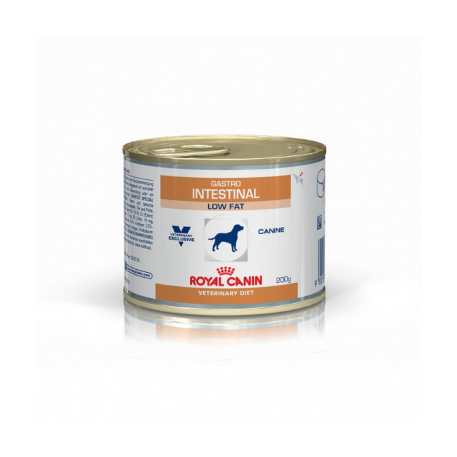 Boîtes Royal Canin Veterinary Diet Gastro Intestinal Low Fat pour chiens 12 Boîtes de 200 g