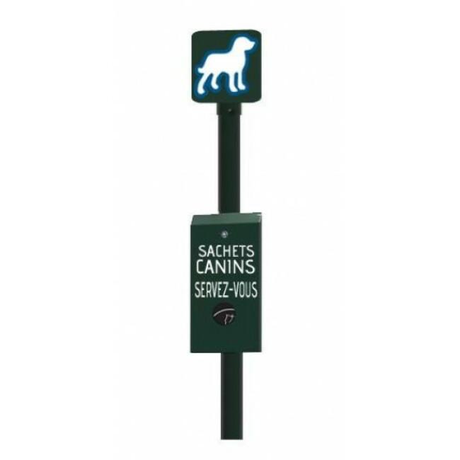 Borne de propreté canine avec distributeur mini-solo
