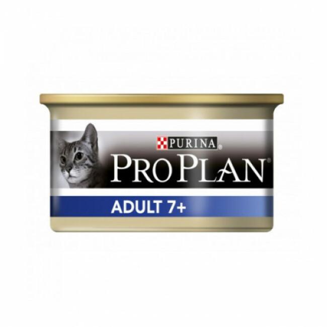 Boîte pour chat au thon Pro Plan Adulte 7+ 24 boîtes de 85 g