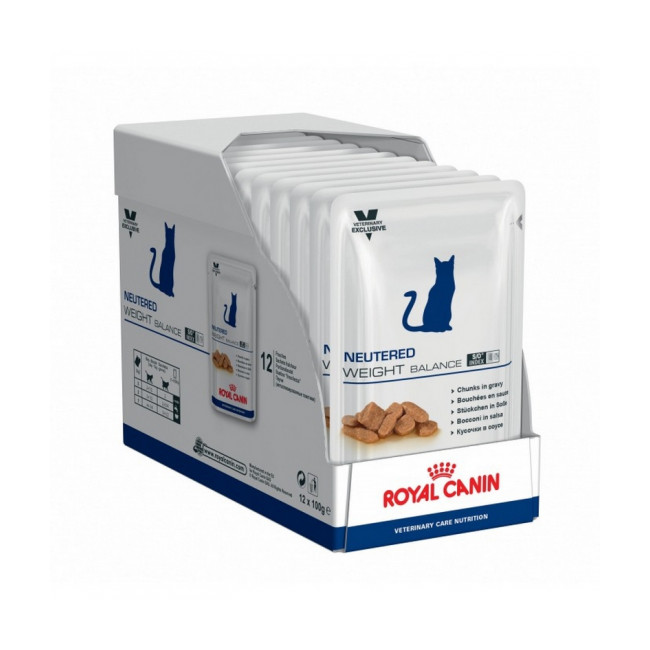 Bouchées en sauce pour chats Royal Canin Neutered Weight Balance 12 Sachet 100 g