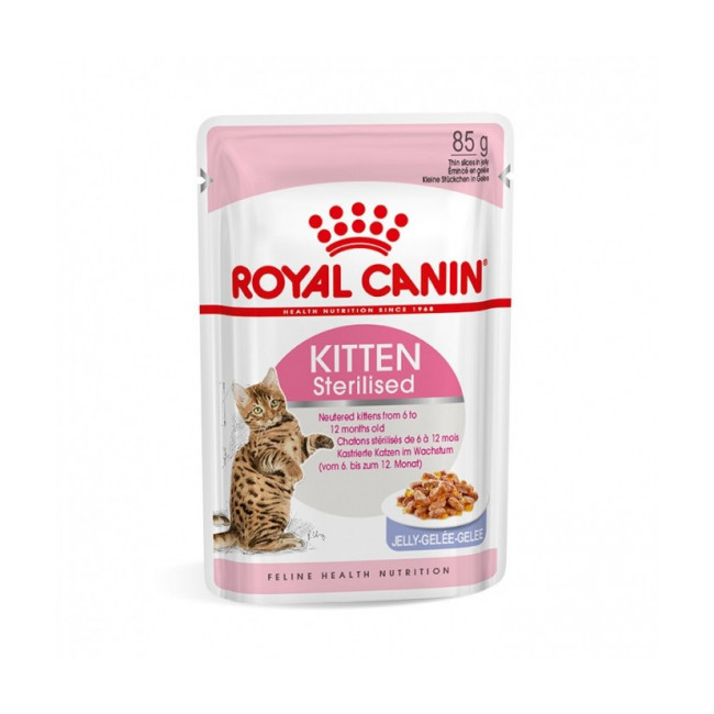 Bouchées Royal Canin Kitten Sterilised - 12 sachets 85 g