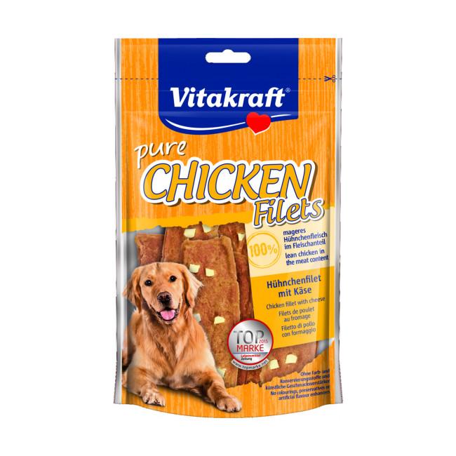Bâtonnets pour chien au poulet avec dés de fromage Vitakraft 80 g