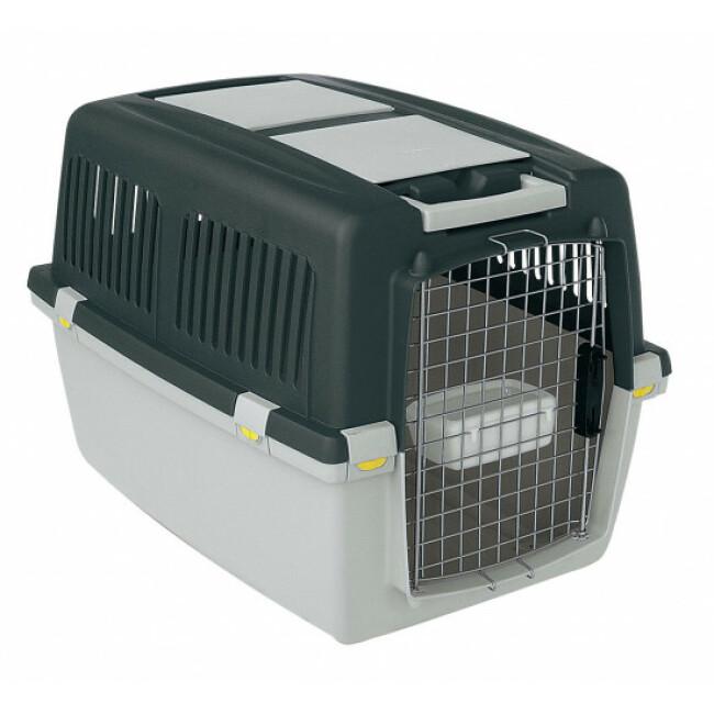 Cage de transport pour chiens IATA Zolux Gulliver Grise
