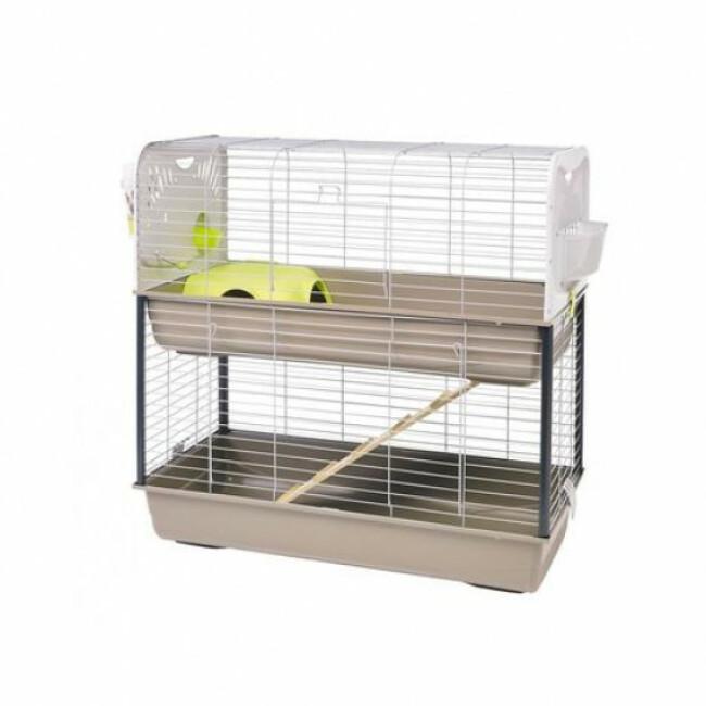 Cage pour lapins et cochons d'inde Caesar 3 double Savic