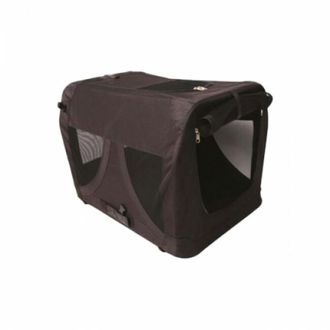 Caisse de transport pour chien M-Pets noire pliable