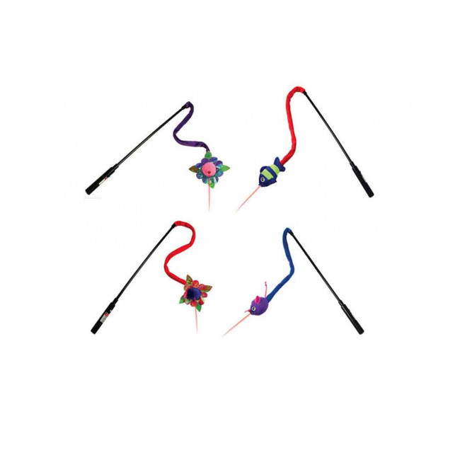 Canne à pêche avec laser pour chat KONG Laser Teaser