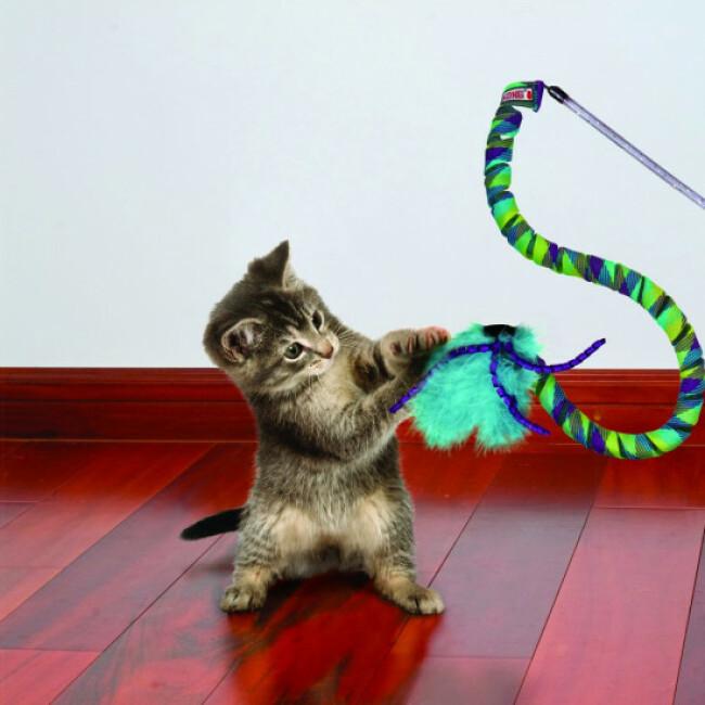 Canne à pêche avec rubans et plumes pour chat KONG Culrz Teaser