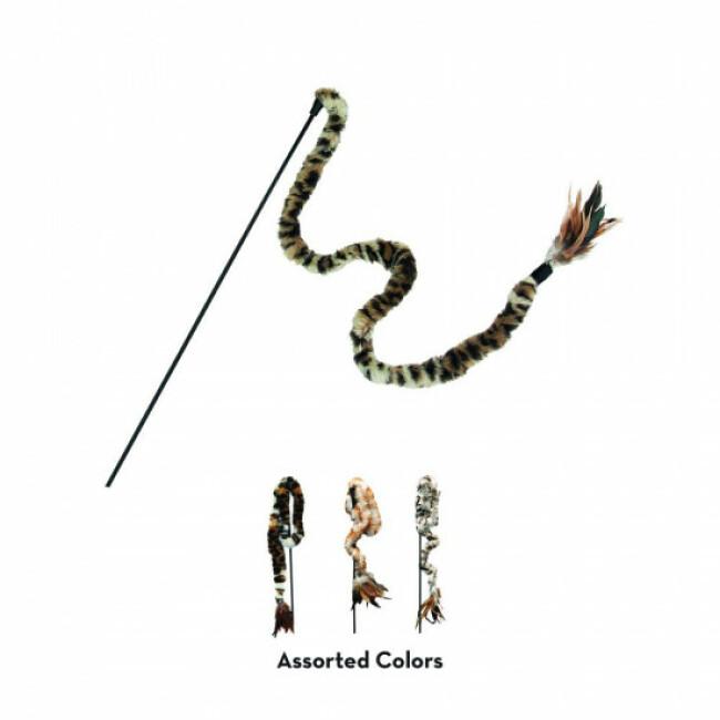 Canne à pêche en peluche pour chat avec plumes KONG