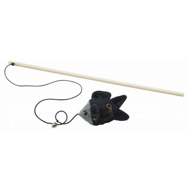 Canne à pêche jouet pour chat Cat Jeans