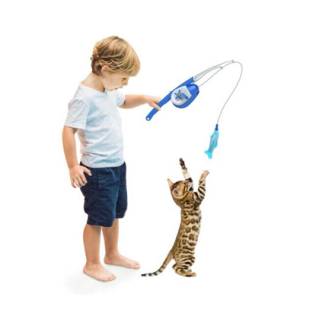 Canne à pêche pour chat Duvoplus