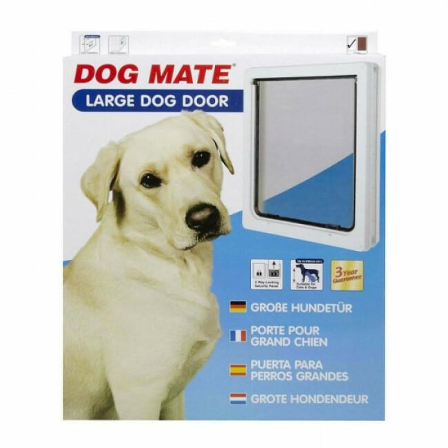Chatière manuelle blanche pour chien Dog Mate
