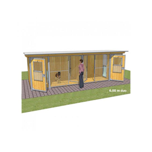 Chenil en bois éleveur résidence junior pour chien & chat