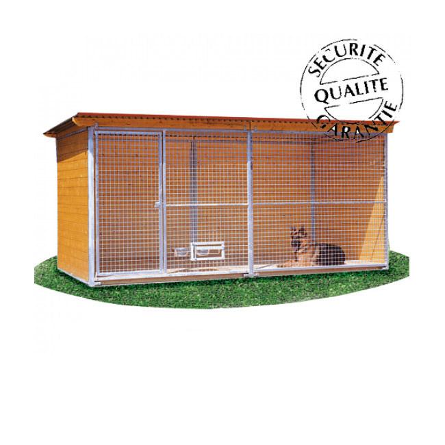 Chenil en bois résidence confort pour chien & chat
