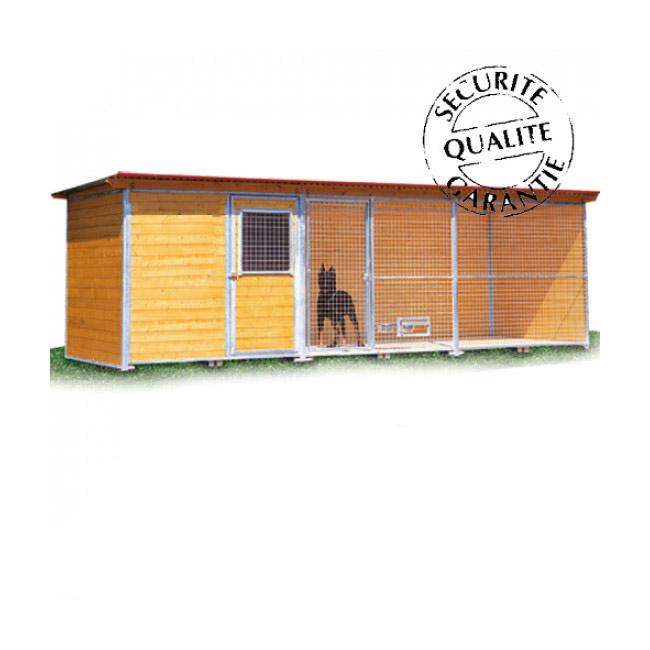 Chenil en bois super éleveur résidence pour chien & chat