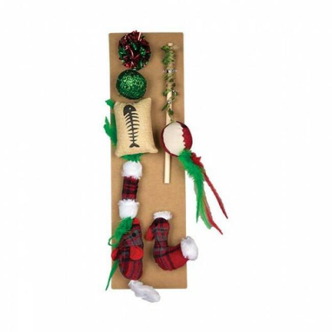 Coffret de Noël pour chat - lot de 7 jouets