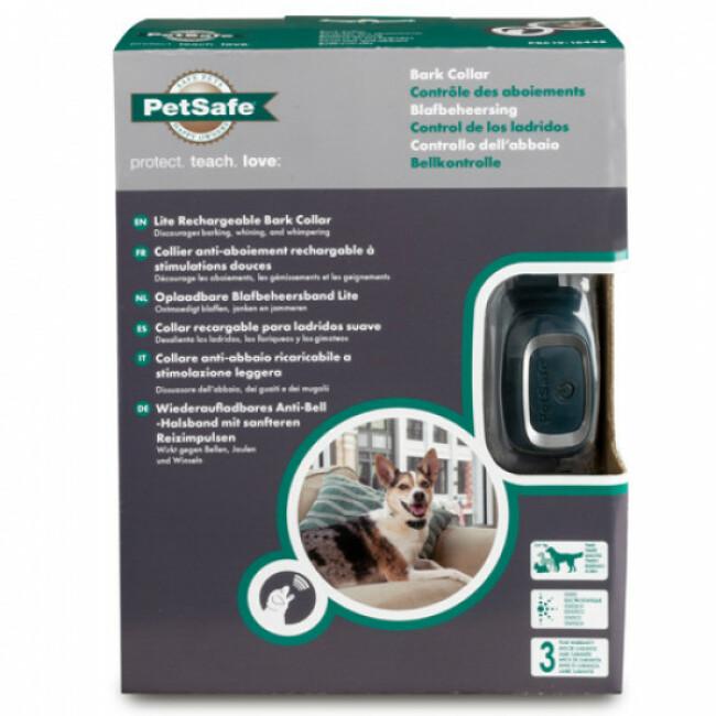 Collier anti-aboiement rechargeable automatique pour petit chien Lite Petsafe