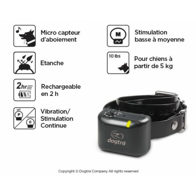Collier anti-aboiement rechargeable Dogtra YS 300 pour petits et moyens chiens > 5 kg