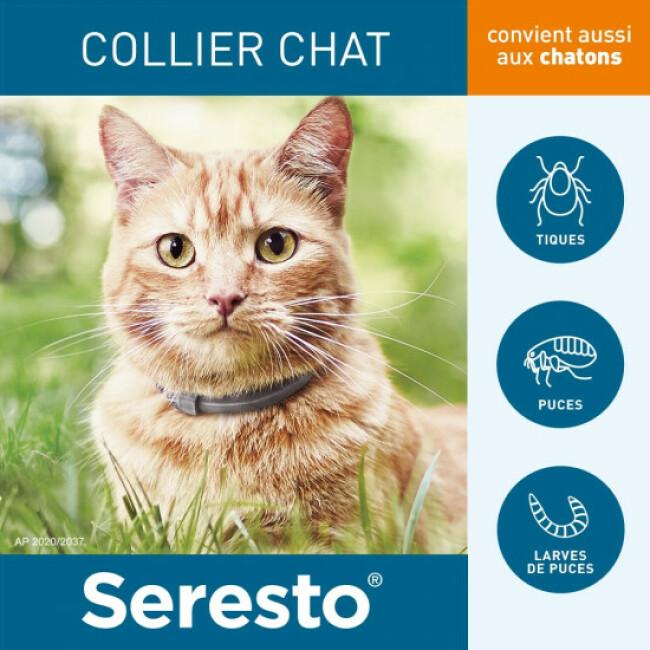 Collier anti-tiques et puces Seresto pour chat