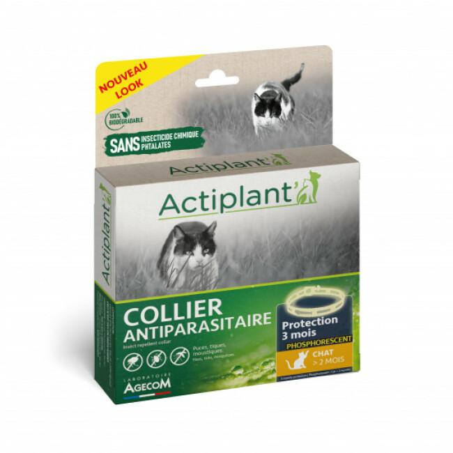 Collier antiparasitaire Essential Spotis noir phosphorescent 35 cm pour chat