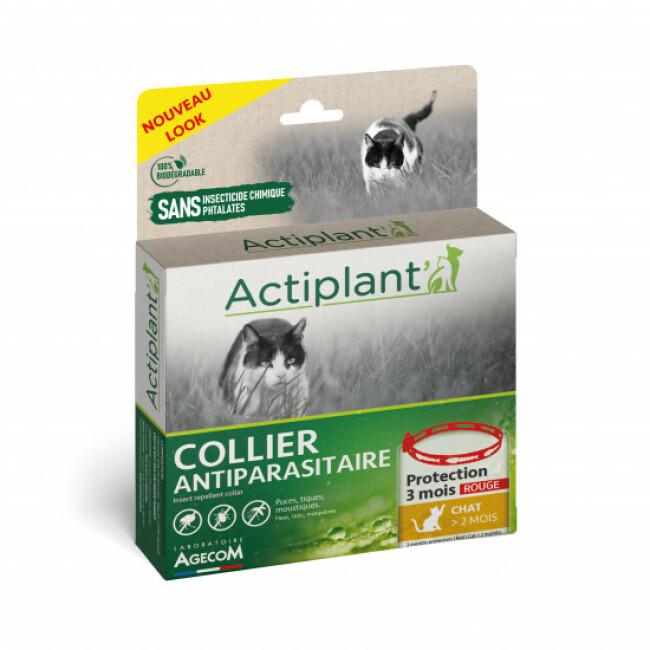 Collier antiparasitaire pour chat Essential Spotis rouge 35 cm
