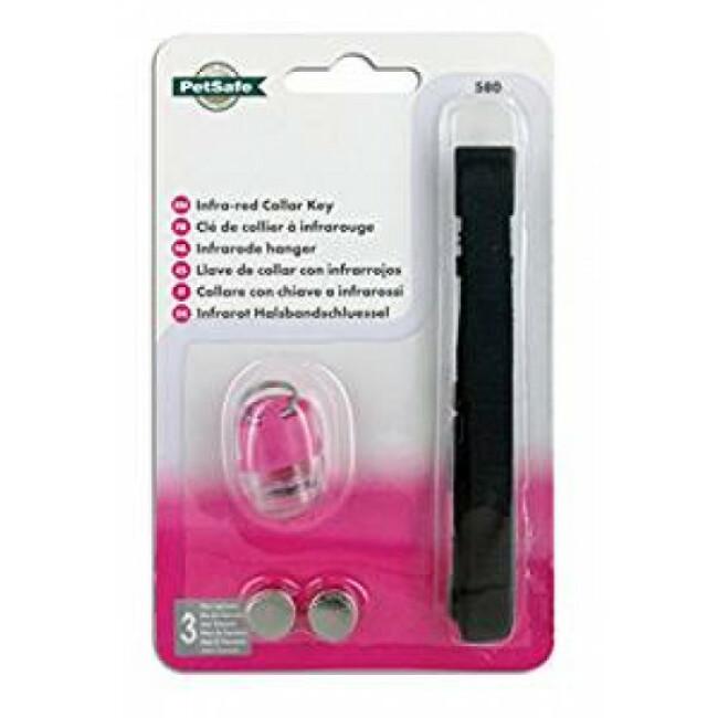 Collier avec clé infrarouge supplémentaire pour chatière Petsafe Staywell 500