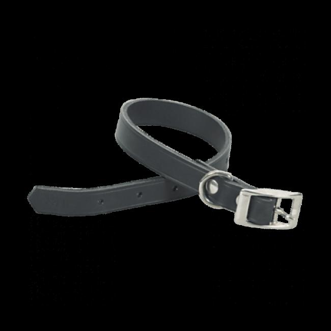 Collier Chapuis Sellerie en cuir noir pour chien