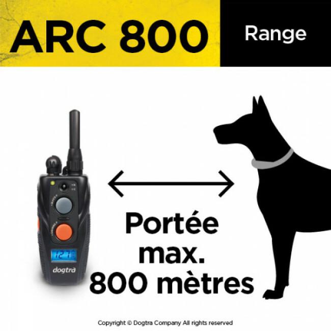 Collier de dressage à distance pour chien Dogtra Arc 800