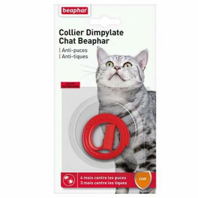 Collier Dimpylate, anti-puces et tiques pour chat