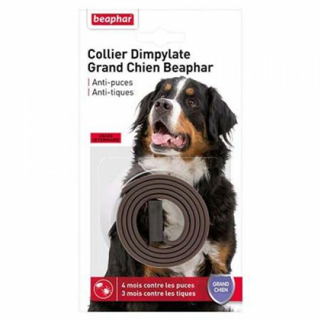 Collier Dimpylate anti-puces et tiques pour grand chien